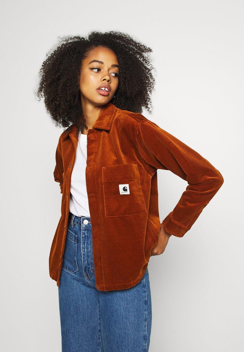 Carhartt WIP - FOYA SHIRT JACKET - Summer jacket - brandy