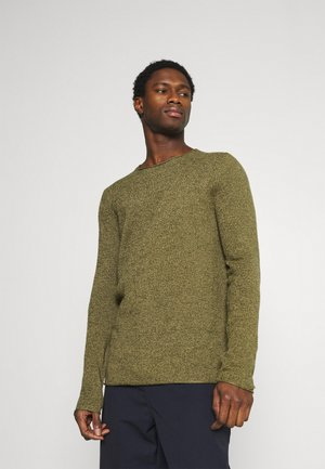 SLHROCKY CREW NECK - Jumper - rifle green/kelp