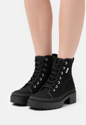ONLPHOBE LACE UP BOOT  - Platform ankle boots - black