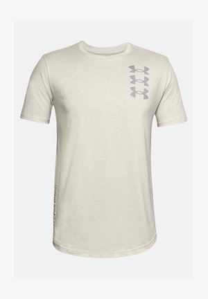 UA TRIPLE STACK  - T-shirt print - summit white