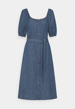 ONLVANESSA BUTTON DRESS  - Vestito di jeans - dark blue