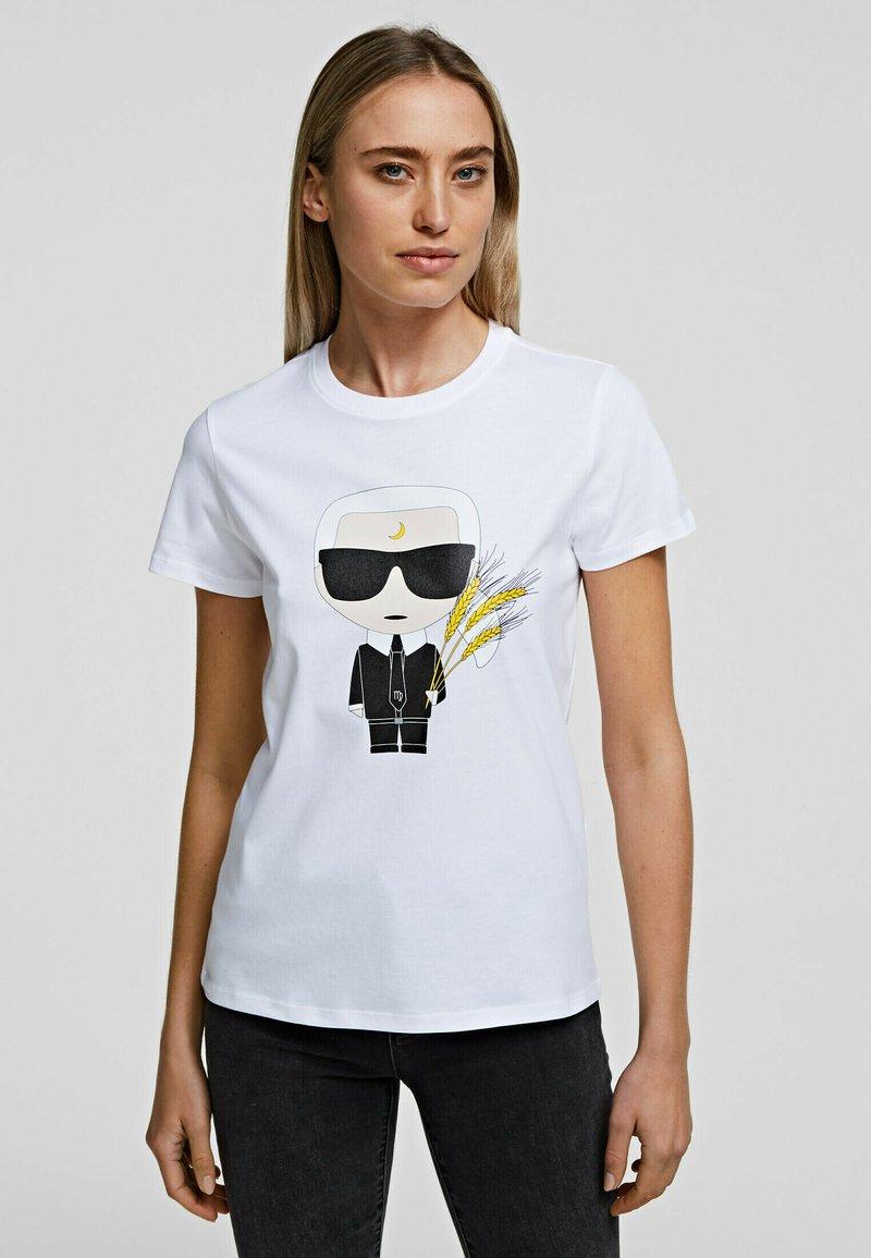KARL LAGERFELD - K/ZODIAC - VIRGO - T-Shirt print - white