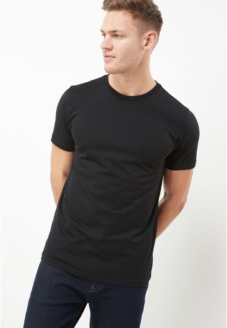 Next - CREW - Basic T-shirt - black