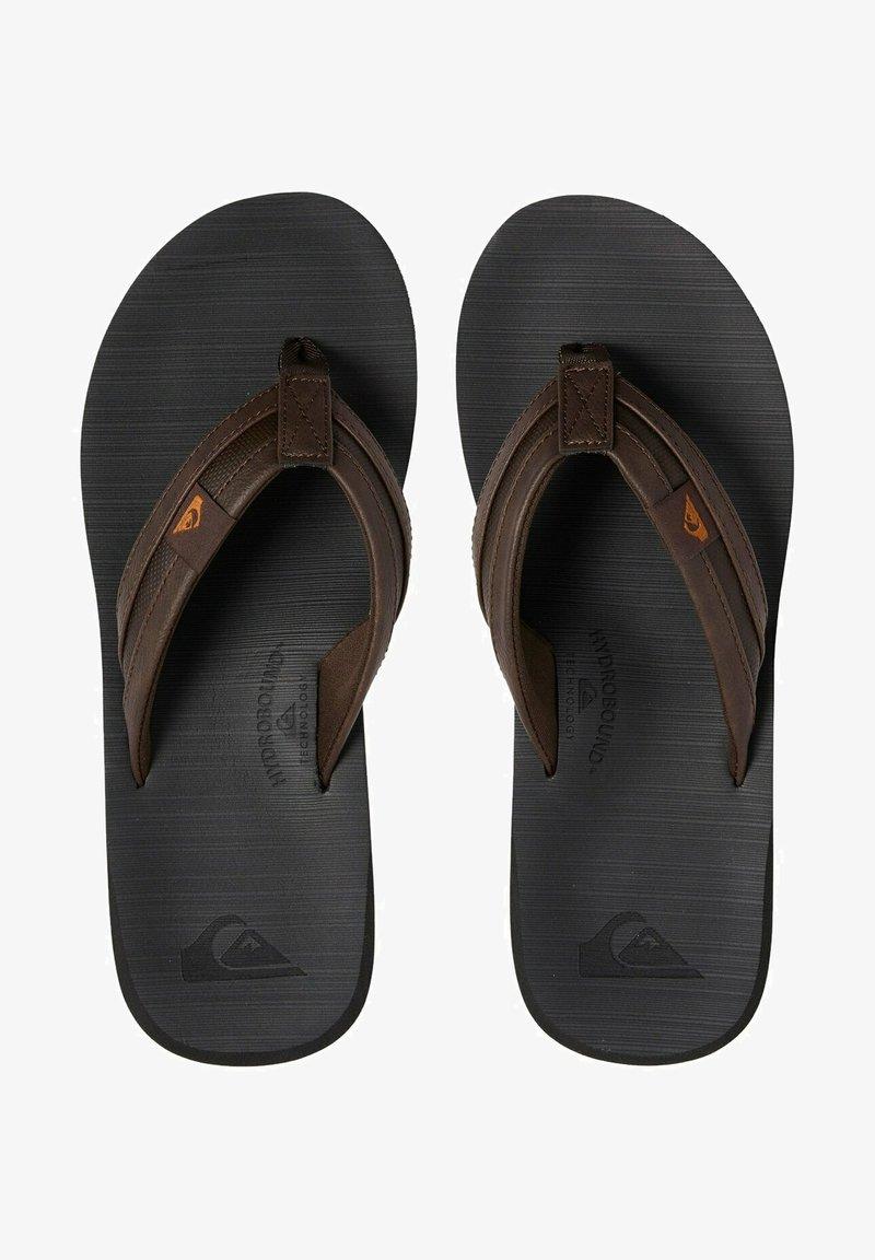 Quiksilver - Slippers - brown/black/brown