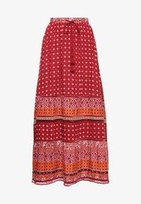 Superdry - AMIRA  - Pleated skirt - rust print - 3