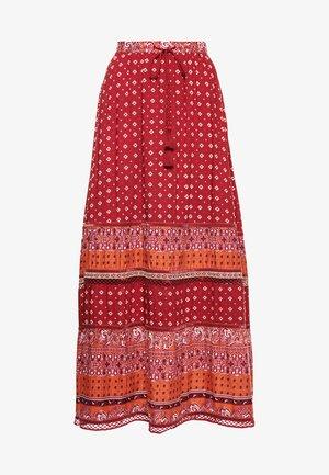 AMIRA  - Pleated skirt - rust print