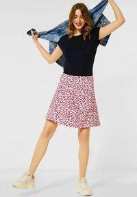 Street One - ROCK MIT PRINT - A-line skirt - rot - 1