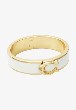 LARGE HINGED BANGLE - Armband - gold-coloured/chalk
