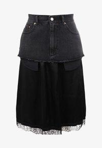 MM6 Maison Margiela - Áčková sukně - black - 4