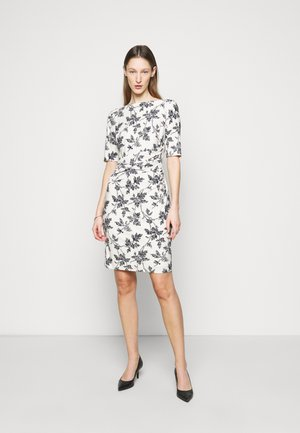 PRINTED MATTE DRESS - Jersey dress - lemon ivory