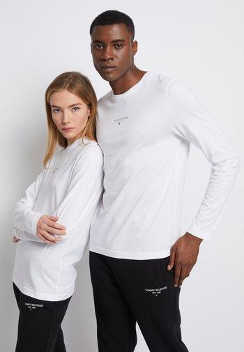 LOGO UNISEX - Long sleeved top - white