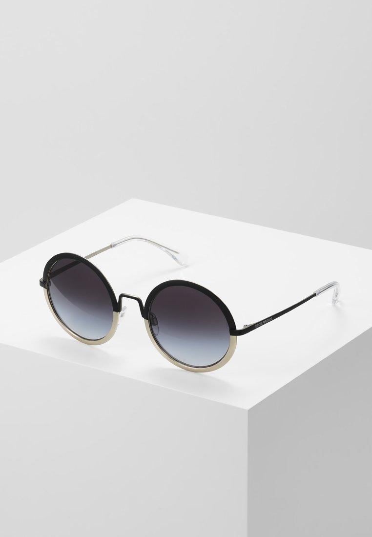 Emporio Armani - Sluneční brýle - matte black/matte pale gold-coloured
