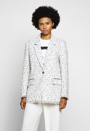 LONG JACKET - Short coat - white/black