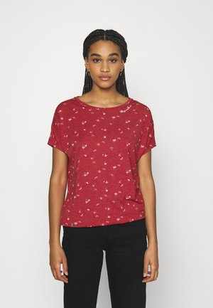 PECORI - Print T-shirt - red