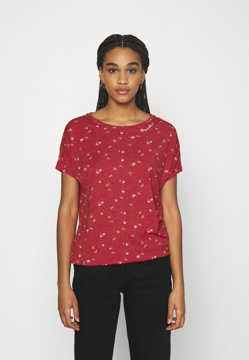 Ragwear - PECORI - Print T-shirt - red