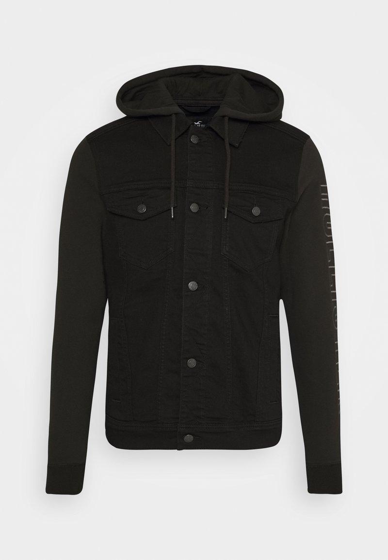 Hollister Co. - NEW TECH LOGO - Denim jacket - black