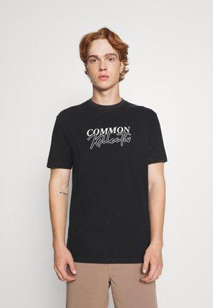 GLOBAL UNISEX - Print T-shirt - black