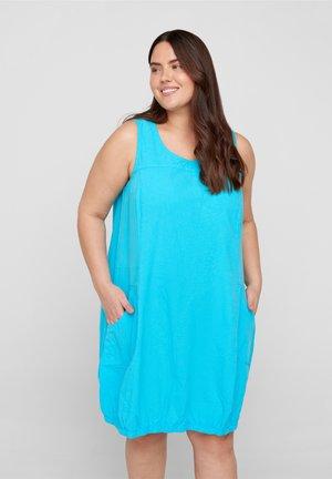 Jersey dress - river blue