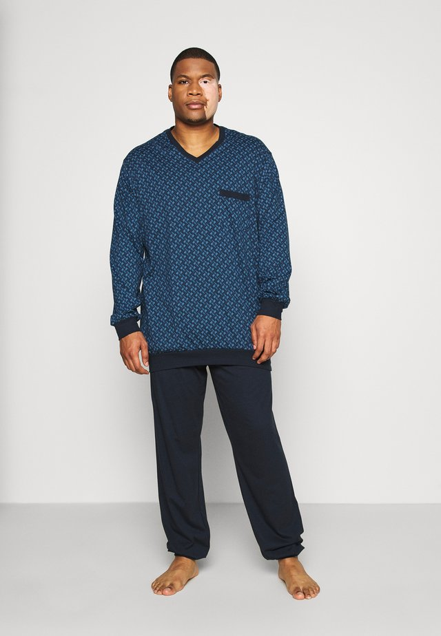 SCHLAFANZUG LANG - Pijama - dunkelblau