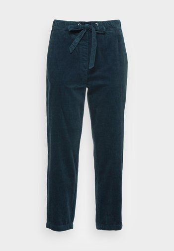 PANTS TAPERED LEG FRENCH POCKETS CROPPED - Trousers - breezy sea