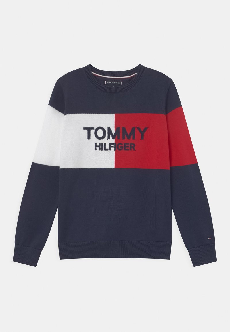 Tommy Hilfiger - COLORBLOCK ARCHIVE - Trui - twilight navy