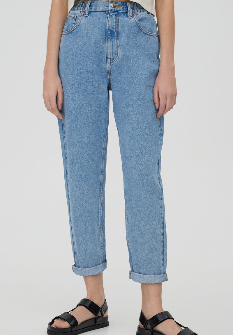 PULL&BEAR - MOM - Relaxed fit jeans - grey