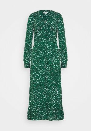 LEOPARD MIDI DRESS - Day dress - green