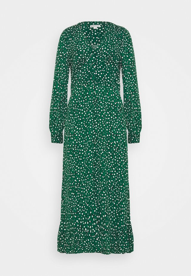 LEOPARD MIDI DRESS - Korte jurk - green