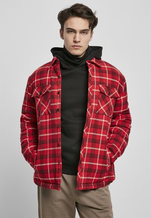 PLAID QUILTED - Light jacket - red/black/white