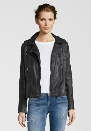 MICHI - Leather jacket - black