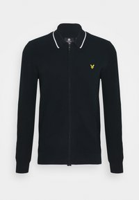 Lyle & Scott - TIPPED ZIP THROUGH - Cardigan - dark navy - 0