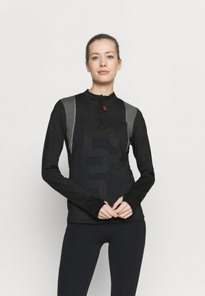 ONPJOKI HALF ZIP - Long sleeved top - black