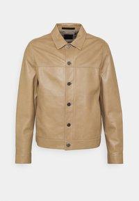 Theory - PATTERSON LEATHER OVERSHIRT - Leather jacket - bark - 3