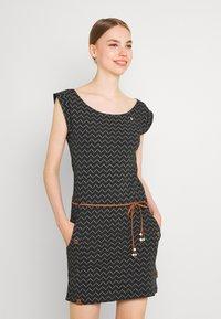Ragwear - TAG ZIG ZAG - Shift dress - black - 0