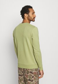 KnowledgeCotton Apparel - EARTHDAY EVERYDAY TEXT CREW NECK - Sweater - sage - 2