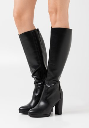 MARIE - High heeled boots - black