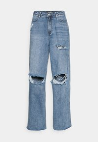 Missguided - KNEE  RIP BAGGY BOYFRIEND - Relaxed fit jeans - blue - 4