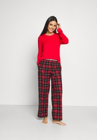 DKNY Intimates - SLEEP PANT - Nattøj bukser - ruby - 1