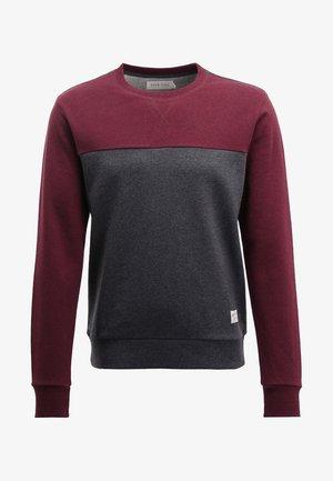 Sweatshirt - mottled bordeaux