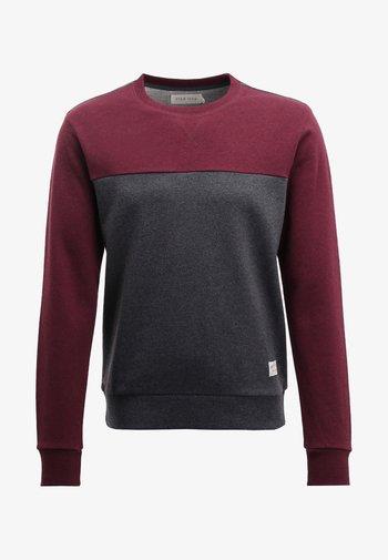 Sweater - mottled bordeaux