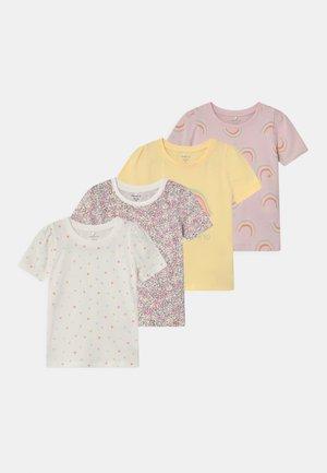 NMFBATARAIA 4 PACK - Print T-shirt - pale lilac