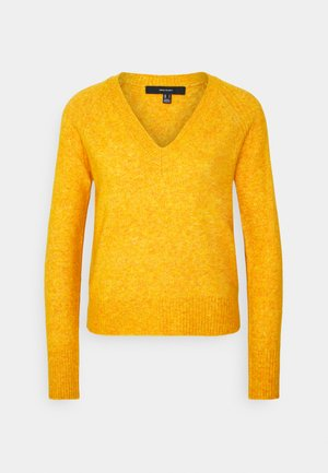 VMWIND V NECK - Jumper - sunflower/melange