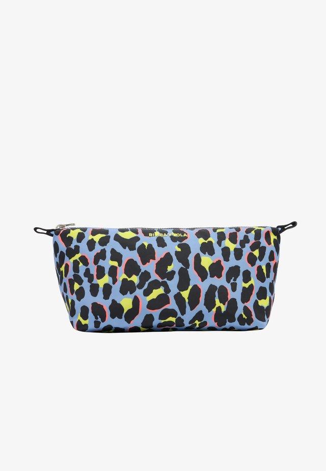 Toilettas - leopard print blue
