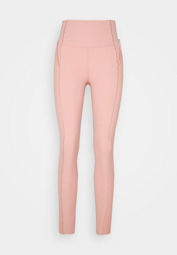 YOGA - Leggings - rust pink/beige