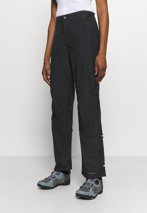 WOMENS YARAS RAIN ZIP PANTS III - Pantalones montañeros largos - black
