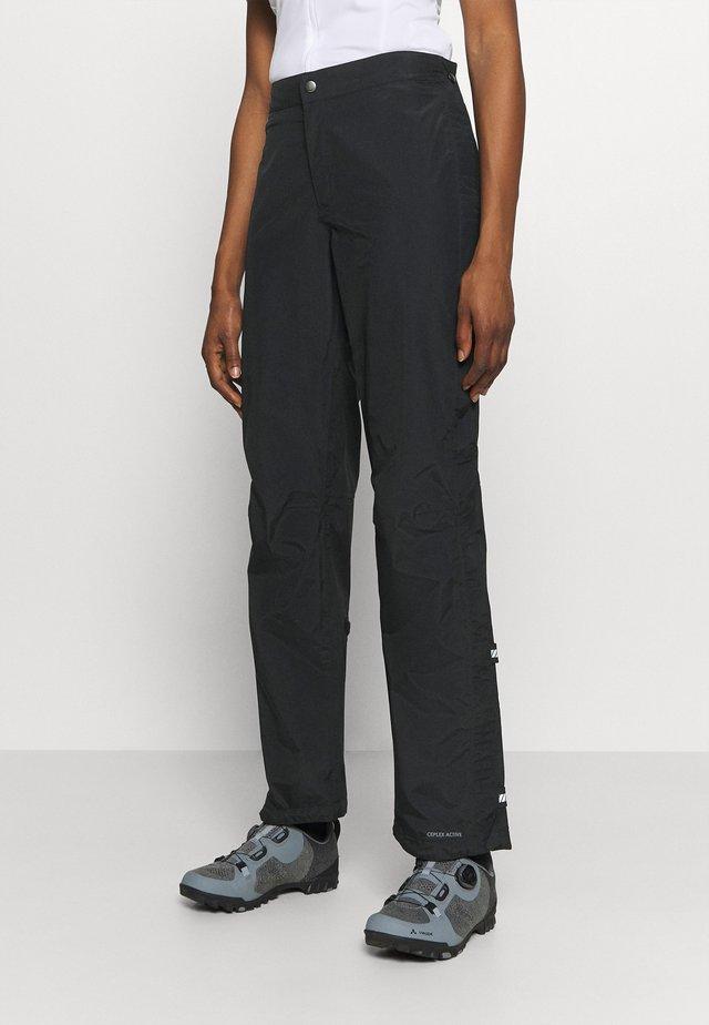 WOMENS YARAS RAIN ZIP PANTS III - Outdoor trousers - black