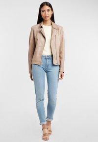Gipsy - Leather jacket - ivo:ivory - 1