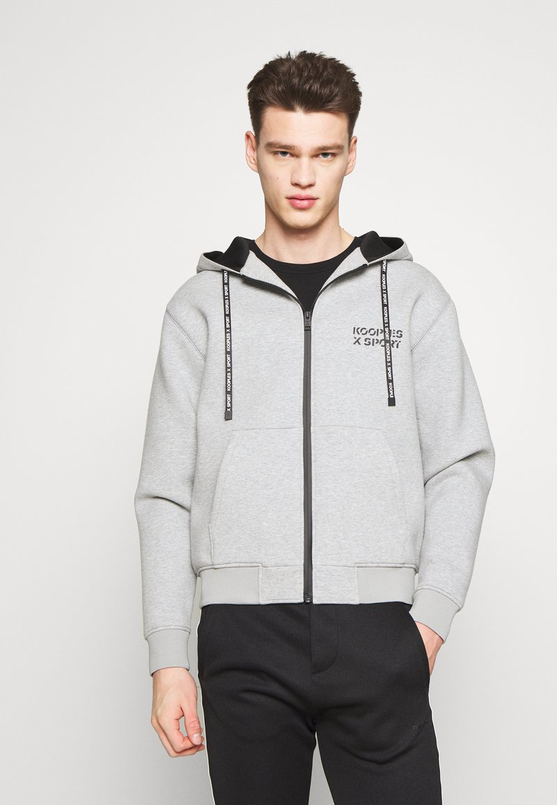 The Kooples - veste en sweat zippée - grey