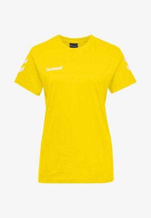 GO WOMAN - Print T-shirt - yellow