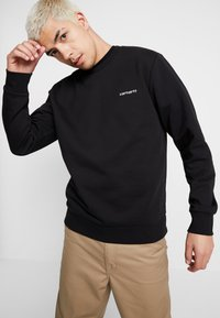 Carhartt WIP - SCRIPT EMBROIDERY - Sweatshirt - black/white - 0